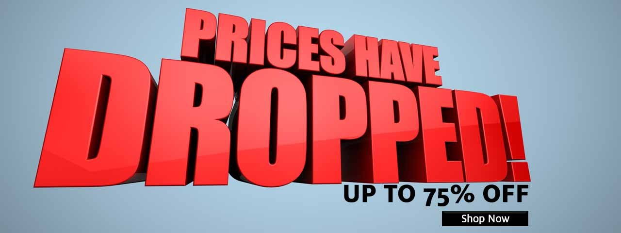 Prices Dropped Up to 75% Off