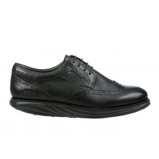 Men's Boston Wing Tip Black Oxfords 700915-03N Small