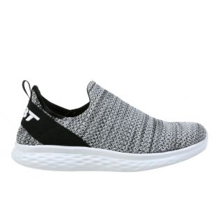 Men's Rome Black/White Walking Slip-Ons