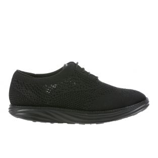 Women's Boston Wing Tip Knit Black Oxfords 700972-03H Small