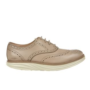 Women's Boston Wing Tip Latte Oxfords 700965-1199N Small